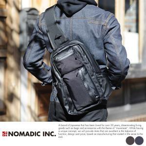 NOMADIC 撥水ボディバッグ メンズ ナイロン A4対応 KA02|t-style