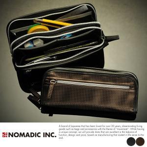 NOMADIC ノーマディック カーボン調2層式ペンケース|t-style