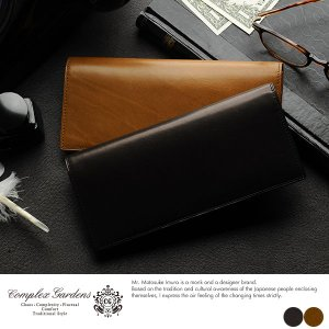 長財布 メンズ 小銭入れなし 青木鞄 薄型 降魔 COMPLEX GARDENS 薄い カード 大容量 多い 本革|t-style