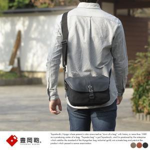 豊岡鞄 直帆布 横型ショルダーバッグ メンズ 日本製 倉敷帆布 イタリア革 NEH317|t-style