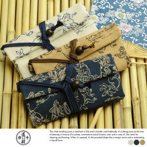 道中財布 鳥獣戯画 男性用 メンズ 財布 浴衣 着物 日本製 和装 和財布 和風 和柄 t-style