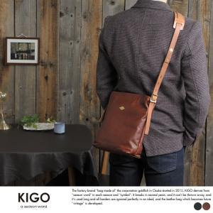 KIGO アンティーク牛革ミニショルダーバッグ メンズ 日本製 本革 FRBG1861-VTK t-style