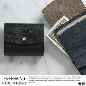 EVERWIN + MAISON DE HIROAN 日本製 牛革 三つ折り財布|t-style