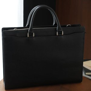 青木鞄 ブリーフケース 型押し メンズ 本革 通勤 ビジネスバッグ A4 レザー Lugard BALBOS ブラック|t-style