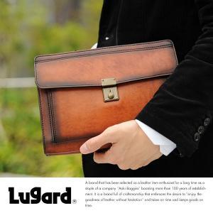 青木鞄 Lugard 本革セカンドバッグ メンズ 日本製 レザー 鍵付き|t-style