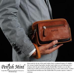 Penysh Mint セカンドバッグ メンズ ミニショルダー 革 本革 レザー 2wayセカンドバッグ|t-style