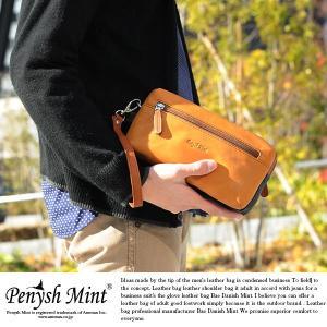 Penysh Mint セカンドバッグ メンズ ポーチ 革 本革 レザー セカンドバッグ|t-style