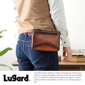 青木鞄 Lugard 本革セカンドバッグ メンズ 日本製 レザー|t-style