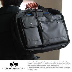 ALPHA INDUSTRIES INC. 3wayビジネスバッグ メンズ リュック B4 大容量 出張|t-style