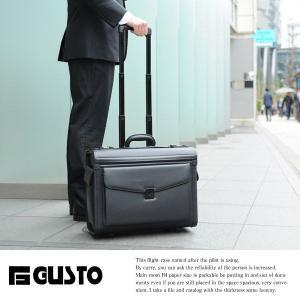 GUSTO ビジネスキャリーバッグ 機内持ち込み 横型 パイロットケース t-style