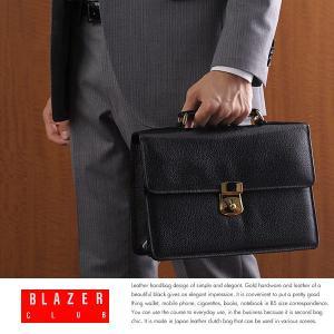ハンドル付きセカンドバッグ メンズ 本革 日本製 BLAZERCLUB|t-style