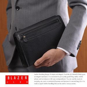 本革セカンドバッグ メンズ 日本製 レザー BLAZERCLUB|t-style