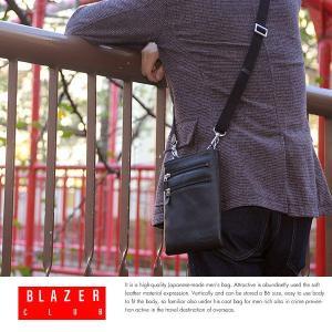 極薄ミニショルダーバッグ メンズ 本革 日本製 BLAZER CLUB|t-style