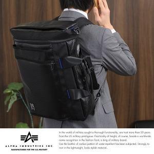 ALPHA INDUSTRIES INC. 撥水3wayビジネスバッグ メンズ リュック B4 パソコン|t-style