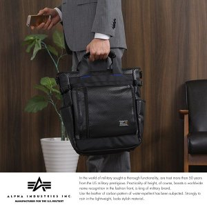 ALPHA INDUSTRIES INC. 撥水3wayビジネスバッグ メンズ 縦型 リュック A4 パソコン|t-style