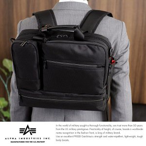 ALPHA INDUSTRIES INC. 3wayビジネスバッグ A4 メンズ リュック ナイロン パソコン|t-style
