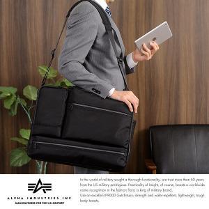 ALPHA INDUSTRIES INC. 出張ビジネスバッグ 3way メンズ A3 リュック ナイロン パソコン|t-style