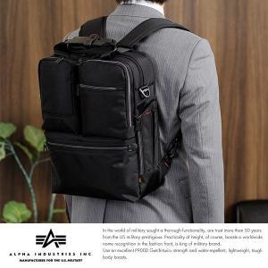ALPHA INDUSTRIES INC. 縦型ビジネスバッグ 3way メンズ A4 リュック ナイロン パソコン|t-style