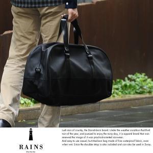 RAINS レインズ 防水ボストンバッグ メンズ 旅行 ショルダー付き 1219|t-style