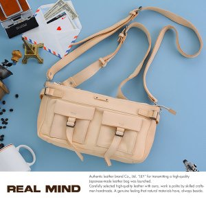 REAL MIND 馬革3wayウエストバッグ 白ヌメ革 メンズ 日本製|t-style