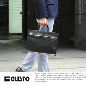 GUSTO 超軽量ブリーフケース メンズ 合皮 A4ファイル ビジネスバッグ t-style
