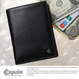 Esquire スキミング防止二つ折り財布 小銭入れあり メンズ 本革 レザー 0469|t-style