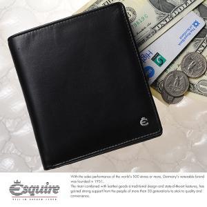 Esquire スキミング防止二つ折り財布 小銭入れあり メンズ 本革 レザー 0479|t-style