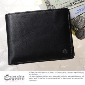 Esquire スキミング防止二つ折り財布 小銭入れあり メンズ 本革 レザー 2244|t-style