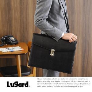 青木鞄 Lugard 鍵付き2層ブリーフケース メンズ 本革 日本製 ショルダー B4 BALBOS No.4416-10|t-style