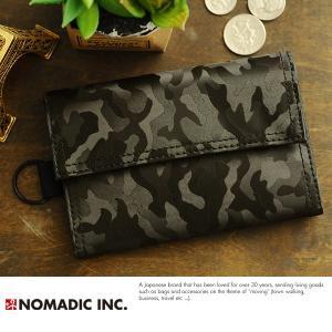 NOMADIC Trifoid Wallet 迷彩三つ折り財布 ブラック PA-11-07|t-style