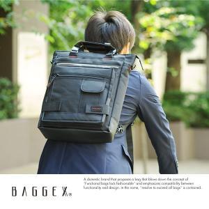 BAGGEX 3wayビジネスバッグ メンズ リュック 縦型 ナイロン B4 パソコン LIGHTNING 13-6052|t-style
