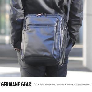 GERMANE GEAR ポリカーボネイトハンドル付き縦型ショルダーバッグ ブラック No.33691-01 t-style
