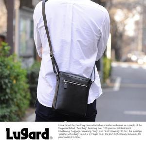 青木鞄 Lugard ミニショルダーバッグ メンズ 牛革 日本製  BALBOS No.4306|t-style