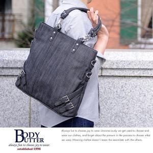 トートバッグ メンズ 日本産デニム A4ファイル きれいめ カジュアル BodyButter Standard Bag Denim t-style