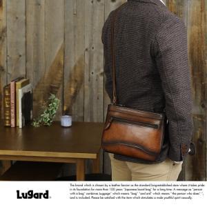 青木鞄 Lugard シャドー牛革サコッシュバッグ G-3 ブラウン No.5230-50|t-style