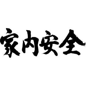 """""""家内安全(横書)""""書道家が書くかっこいい漢字Tシャツ"""