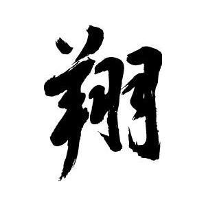 """""""翔""""書道家が書くかっこいい漢字Tシャツ-"""