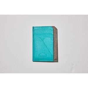 ラルコバレーノ スマートミニウォレット 当店限定色 GRAY x AQUA BLUE 財布|t-tokyoroppongi