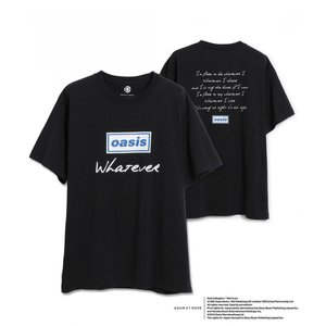 OASIS for ADAM ET ROPE'  SONG LYRICS T-SHIRT オアシスTシャツ 半袖 『Whatever』|t-tokyoroppongi