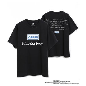 OASIS for ADAM ET ROPE'  SONG LYRICS  T-SHIRT オアシスTシャツ 半袖 『WonderWall』|t-tokyoroppongi