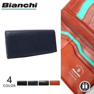6a7f24fb2e8c 公式 二つ折り 長財布 メンズ ビアンキ Bianchi 本革 レザー 男性 BIB-1504 送料無料