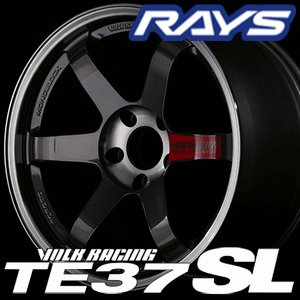 RAYS VOLK RACING TE37 SL 18inch 9.0J PCD:114.3 穴数:5H カラー: PG / PW レイズ ボルクレーシング