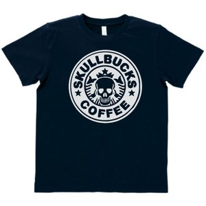 おもしろ パロディ Tシャツ SKULL BUCKS スカル...