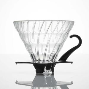 ハリオ V60耐熱ガラス透過ドリッパー02B 4杯用 (ブラック) (VDG-02B) 【送料区分C】