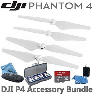 DJI ファントム 4 Propellers アクセサリー バンドル: インクルーズ 2 ペア of...