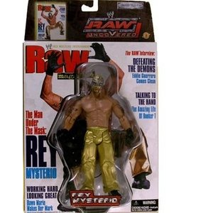 REY MYSTERIO RAW UNCOVERED WWE FIGURE AND マガジン [海外...