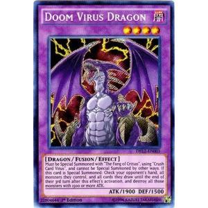 遊戯王 Yu-Gi-Oh! - Doom Virus Dragon (DRL2-EN003) - Dragons of Legend 2 - 1st Edition - Secret Rare by 遊戯王 Yu-Gi-Oh![海外取寄せ品]
