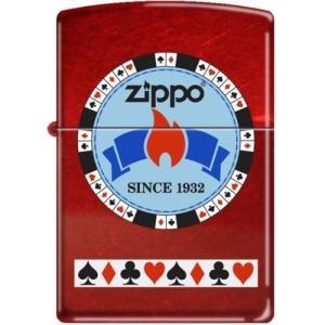 Zippo Gentleman's Bet Poker チップ on Candy Apple レッド...