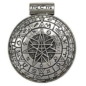 スターリング シルバー ラージ Pentacle Pentagram マジック サークル ペンダント(海外取寄せ品)|t2mart