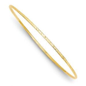 IceCarats デザイナー ジュエリー 14K 1.5Mm ダイヤモンド-カット スリップ-On バングル ブレスレット(海外取寄せ品)|t2mart